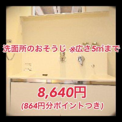【3/31作業分まで5%ポイント還元!】洗面所のおそうじ ※広さ5平米まで