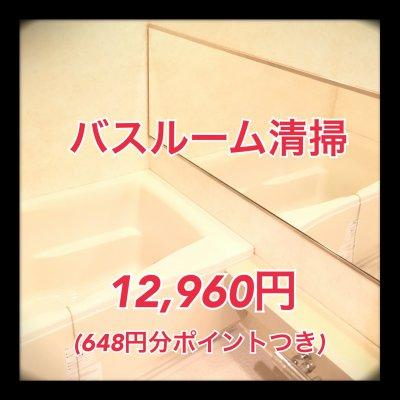 【3/31作業分まで5%ポイント還元!】バスルームのおそうじ ※マンション・戸建てタイプ共通