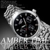 AMBER TIME~数量限定♪腕時計 デザインクロノグラフ メタルバンド~