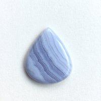 ブルーレースアゲート(bluelace agate)和名:空色縞瑪瑙(そらいろしま...