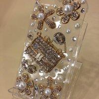 クリアラメバック iPhone5/5s専用カバー...