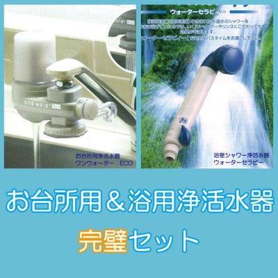 還元力に優れた素粒水を創り出す活水器『ワンウォーターECO』&浴用シャワーヘッド『ウォーターセラピー』完璧セット