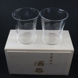 【送料・消費税込み】うすはり五勺盃SHIWA 2個セット(木箱入り)父の日ギフト プレゼント お誕生日