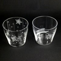 【キリリと冷酒用♪】うすはりsakeグラス 2個セット(夏・冬) 木箱入り