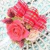 選べる4色カラー!<レッド>チェックリボンスクエアアレンジ☆ケース付【送料・消費税込】の画像4