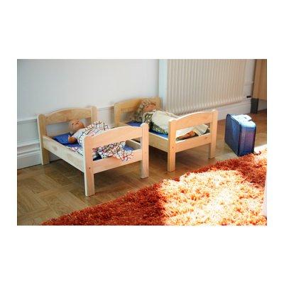 DUKTIG 人形用ベッド ベッドリネンセット付き