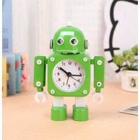 【かわいいと評判の】ロボット型目覚まし時計 インテリアやプレゼントにも(こぶし状タイプ グリーン)