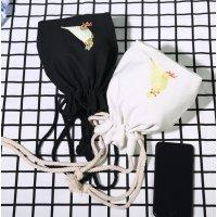 【選べる2色】カナリア刺繍のキャンバスショルダーバッグ