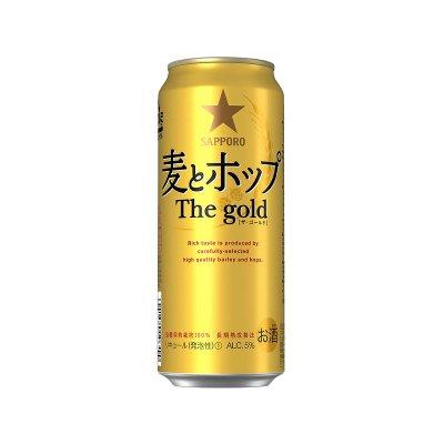 500ml サッポロ 麦とホップThe gold  6×4  4500 円