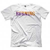 BURNING TEE WHITE サイズ:L