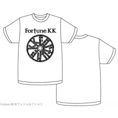 FortuneKKオフィシャルロゴTシャツホワイト サイズ:S