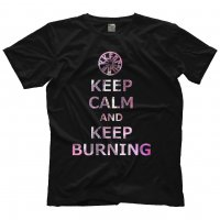 KEEP BURNING TEE BLACK サイズXL