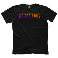 BURNING TEE BLACK サイズ:L