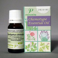 ユーカリレモン精油 プラナロム社 ケモタイプ精油 安心 アロマテラピーのための天然・無添加のオーガニックエッセンシャルオイル