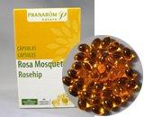 ローズヒップ・カプセル プラナロム社のカプセルサプリメント 安心のアロマテラピー精油とオーガニック植物油を配合した栄養補助食品