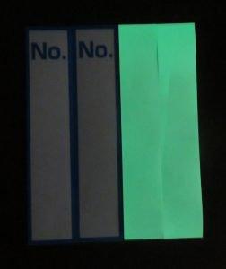 【光をためて、暗闇で発光】蓄光シール No.  2枚入り