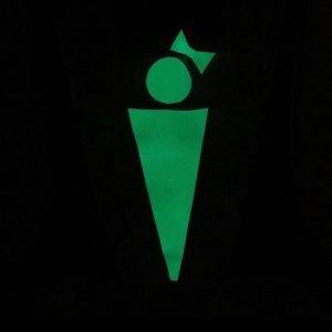 【なんと、光を貯めて暗闇で光るんです。】蓄光安全マーカーリボンベスト 女性用 フリーサイズ 3色