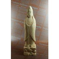 木彫り仏像 白衣観音