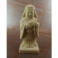 木彫り仏像 弁財天