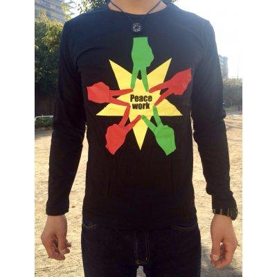 Peace Work Tシャツ☆黒☆【長袖】【店頭受取★送料無料★】の画像1