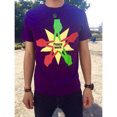 Peace Work Tシャツ☆濃い紫☆【店頭受取★送料無料★】