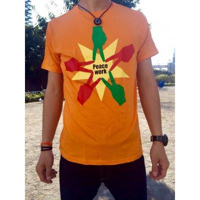 Peace Work Tシャツ☆オレンジ☆【店頭受取★送料無料★】の画像1