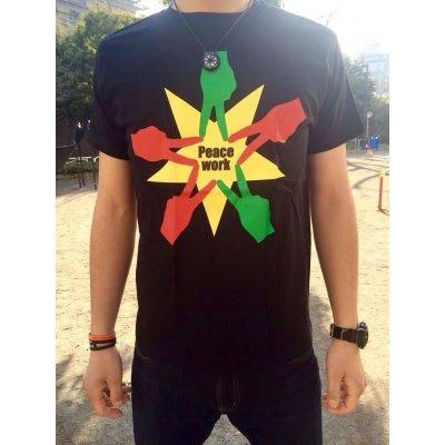 Peace Work Tシャツ☆黒☆【店頭受取★送料無料★】