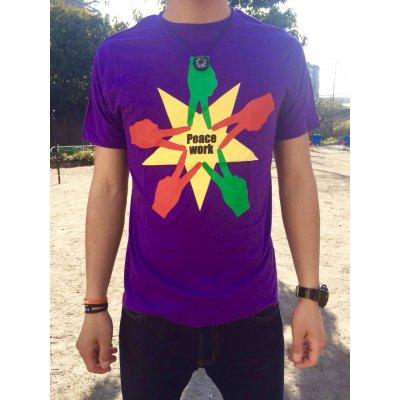 Peace Work Tシャツ☆パープル☆【店頭受取★送料無料★】の画像1