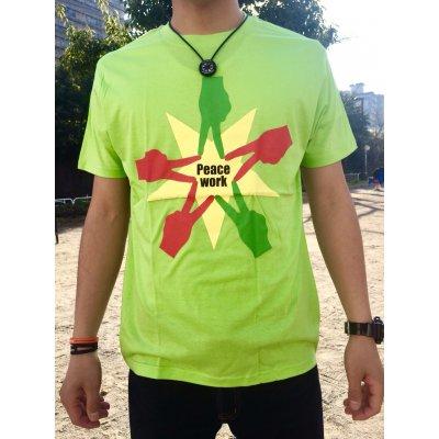 Peace Work Tシャツ☆黄緑☆【店頭受取★送料無料★】の画像1