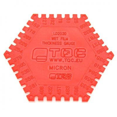 TQC 樹脂製記録保存用くし形ウェットフィルム膜厚計 KT-LD2020