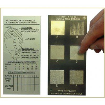RUBERT 船舶スクリュー粗さ比較板(水中用) KB-016の画像1