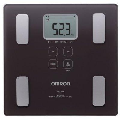 オムロン (OMRON) 体重体組成計 カラダスキャン(HBF-214) ブラウンの画像1