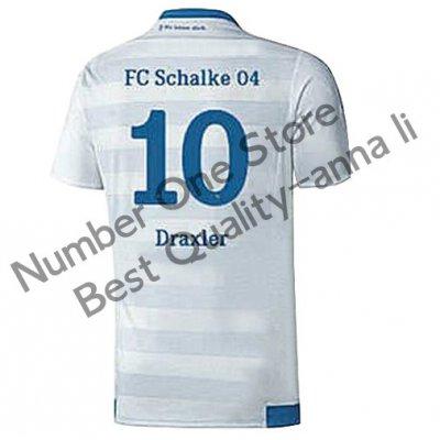 2016 シャルケ04 サッカー ユニフォーム アウェイカラー ホワイト 背番号10