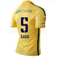 2016 ボカ ジュニアーズ サッカー ユニフォーム アウェイ カラー イエロー 背番号5