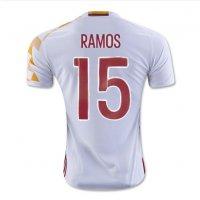 2016サッカーユニフォームスペインユーロ 白 背番号 15