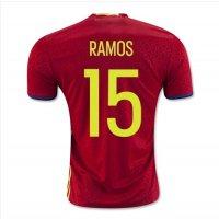 2016サッカーユニフォームスペインユーロ 赤 背番号15