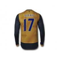 2016 アーセナル サッカー ユニフォーム ロングスリーブ アゥエイ 背番号17