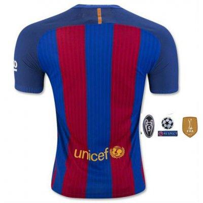 4月限定!2017 FC バルセロナ ユニフォーム ホーム 半袖 背番号無地 【オープン記念セールにつき半額!さらに10%ポイント進呈!】