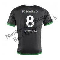 2016 シャルケ04 サッカー ユニフォーム サードカラー ブラック 背番号8