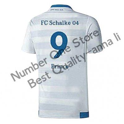 2016 シャルケ04 サッカー ユニフォーム アウェイカラー ホワイト 背番号9
