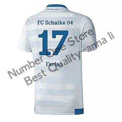2016 シャルケ04 サッカー ユニフォーム アウェイカラー ホワイト 背番号17