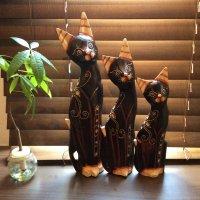 【インドネシア直輸入】猫のオブジェ ¥2000