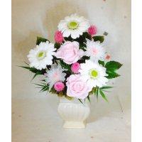 ガーベラとローズのお供え花