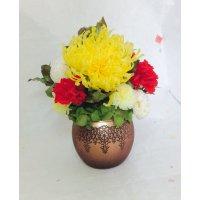 大菊とカーネーションの仏花(プリザーブドフラワー)