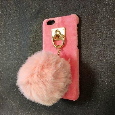 iPone6&6s対応 ケータイケースBIGポンポン(ピンク)の画像1