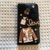 《ラスト1個》iPone6&6s対応 ケータイケース☆ゴージャスなファー付き《ブラック》