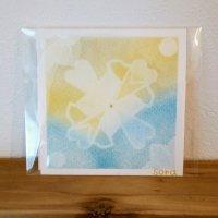 ヒーリングアート「エネルギーカード」パステル  イエロー&水色 〜 原画1点もの・メッセージカード付き