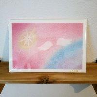 ヒーリングアート「天使ちゃん」ハガキサイズ 〜 原画1点もの・メッセージカード付き