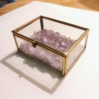 浄化ボックス(L) アメジスト アンティーク調 〜 天然石 パワーストーンの浄化に「 ひみつの小箱 」