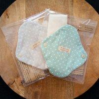 肌面オーガニックコットン「 布ナプキン 」レギュラーサイズ 水玉 ブルー 〜 ハンドメイド雑貨の Sucre&y 〜